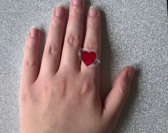 Arrow to the Heart,Love Heart Ring,Heart Ring,Love Ring,Valentine's Day