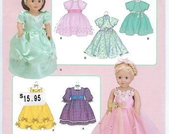"""Simplicity 3547 - 18"""" Doll Clothes"""