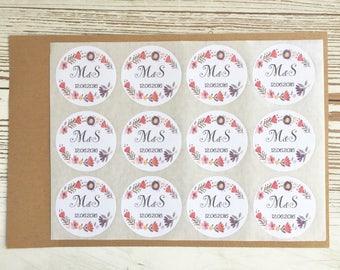 Circular adhesive labels, tags, gift