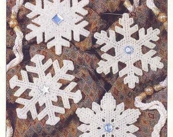 Snowflakes ~   plastic canvas pattern  ~  Hexagon ~ Annie's