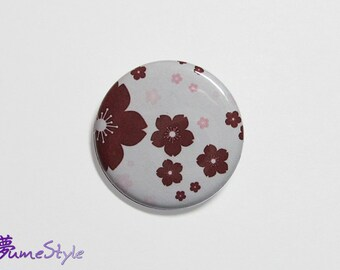 Button - Sakura in red & pink