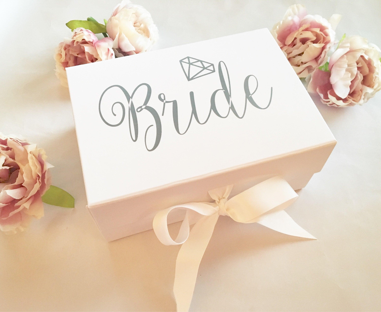 Bride Keepsake Box, White Keepsake Box, Luxury Gift Box, Wedding ...