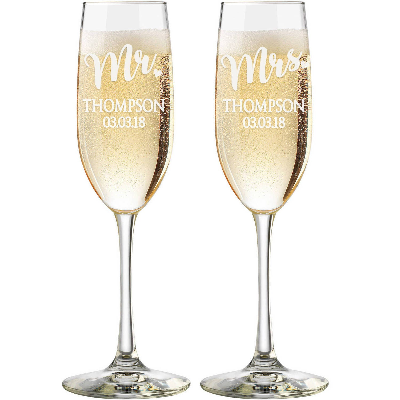 Personalized Wedding Flutes, 2 Toasting Flutes, Engraved Wedding ...
