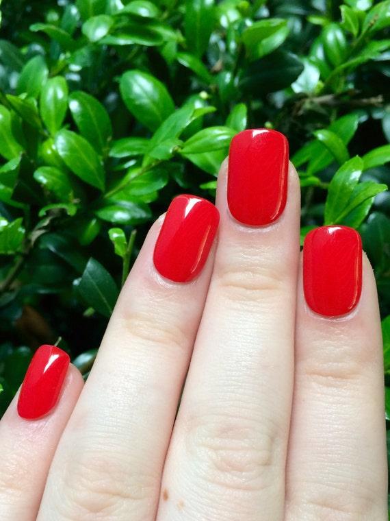 Red nails fake nails false nails red acrylic nails
