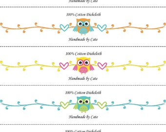 Candy Owls Dishcloth/Washcloth Wraps - PDF FILE ONLY