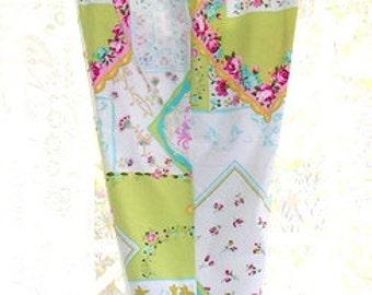 Capri Cropped Pants Floral Patchwork Samantha Stretch Cotton Spandex