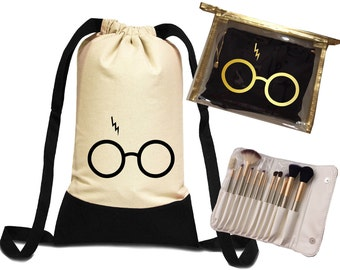 Glasses Backpack, Graduation Gift, Makeup Brushes, Bridesmaid Gift, Wedding Favors, Maid Of Honor Proposal , Brides Gift,Gift Ideas.