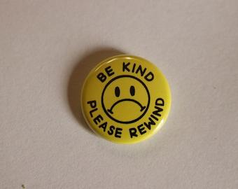 sad face Be Kind Rewind buttons