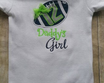 Seattle Seahawks Inspired  Daddys Girl Shirt or bodysuit