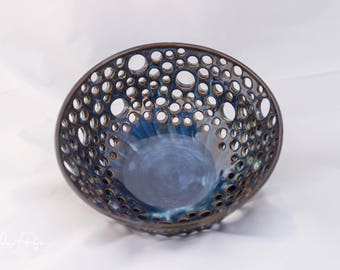 handmade, pottery, handmade pottery, berry bowl, handmade berry bowl, pottery berry bowl, blue berry bowl, handmade pottery berry bowl, blue