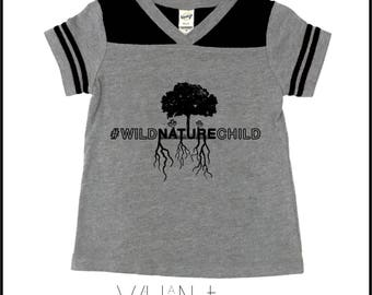 Wild Nature Child, nature babe, nature lover, nature tee, trees, baby clothing, toddler and youth tees, kids shirts, explore, adventure