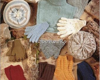 womens berets socks gloves fingerless gloves windcheater knitting pattern womens hats DK womens knitting pattern pdf instant download
