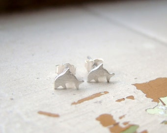Tiny dolphin  fine silver ear studs, handmade, teenage daughters, bridemaid gifts, for young girls, pmc, metal clay, sterling silver