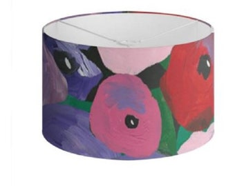 """Floral Lamp Shades """"St Lucia Blooms"""" Limited Edition Print - 40 cm"""