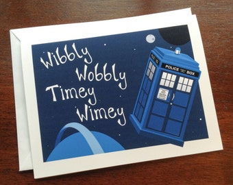 dr. who / tardis / greeting card / blank card / note card / stationary