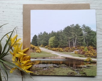 Greeting Card, Tree Scene, Landscape, Traveller, Birthday, The New Forest, Pretty, Notecard, Any Occasion, Thank You Card, For Her, For Him