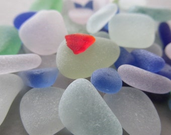 GENUINE Beach Glass Bulk Jewelry Supply Starter Kit Lot Jewelry Making Sea Glass Beach Treasure Red Blue Seaglass Authentic
