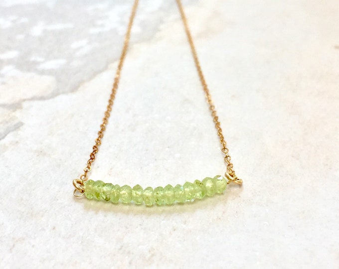 August Birthstone / Peridot necklace