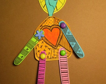 Colorful Paper Art Doll for Grown Ups