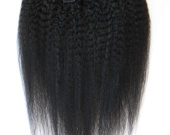 Brazilian Coarse Yaki Clip-in Hair Extensions