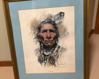 """Limited Edition """"Sitting Eagle"""" by Harley Brown"""