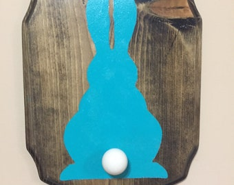 Bunny Tail Clothes Hook/Wall Plaque