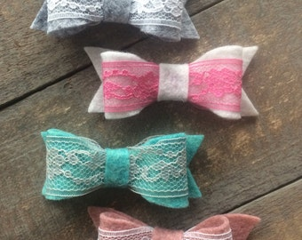 Wool Boutique Bows | Nylon Headbands or Clips | The Kaylanna Bow