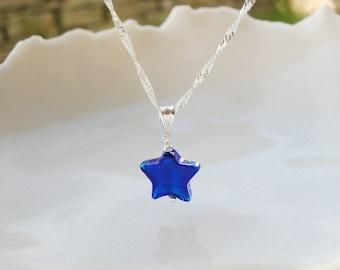 Collier étoile petite en verre de Murano