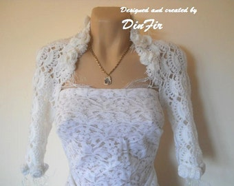 LIQUIDATION Stock 30% OFF Shrug Bolero Wedding Bridal Accessories Crochet Cape Handmade Women Elegant Jacket Cardigan Capelet Hand Knitted