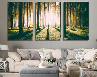 Trees Wall Art Trees Canvas Print Trees Large Wall Decor Trees Canvas Trees Poster Print Trees Home Decor Gift for She