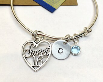 Sweet Sixteen Bracelet, Sweet Sixteen Bracelet, 16th Birthday Bracelet, Sweet Sixteen Gift