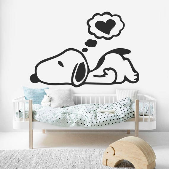 sc 1 st  Etsy & Snoopy Sticker Snoopy Wall Art Snoopy Wall Decal Snoopy