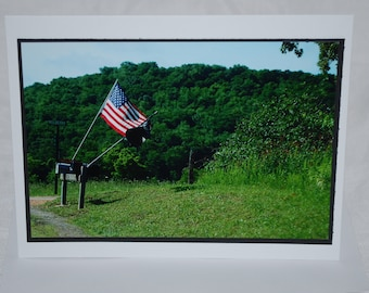 photo card, American Flag, Ozarks photography