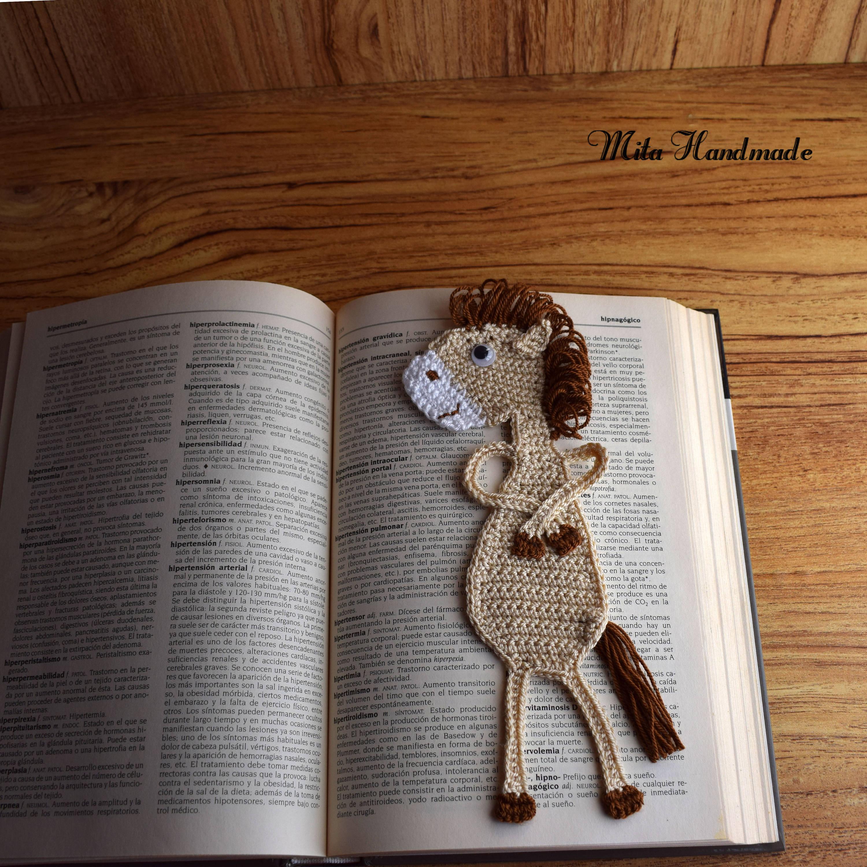 Marcapaginas Caballo Crochet Marcapagina Crochet # Muebles Dida Nicaragua
