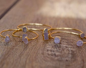 Buy Two get 22% OFF - Arm cuffs with druzy ends
