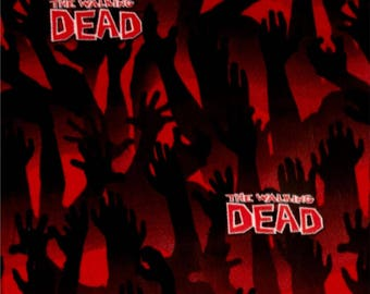 """Walking Dead Zombie Arms fabric, by the half yard, 43-44"""" wide, 100% cotton, walking dead fabric, The walking dead, zombie fabric"""