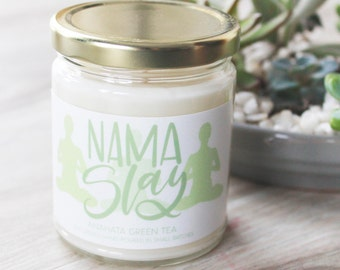 Yoga Soy Candle // Refreshing Green Tea Candle // Hand Poured Soy Wax Candle // Best Housewarming Gifts // Best Friend Gifts