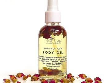 Rose Body Oil, Bath & Body Oil, Vegan Body Oil, Body Hydration, Skin Moisturizer, Massage Oil, Moisturizer, Jojoba oil