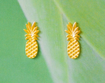 Gold plated PINEAPPLE earrings