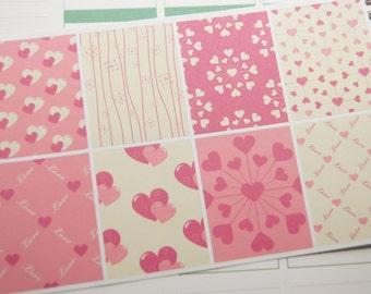 8 Planner Stickers Full Box Vertical Horizontal Valentine Life Planner Stickers eclp Erin Condren PS361e