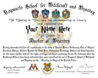 Beauxbatons diploma card graduation card harry potter card harry potter personalized hogwarts diploma wizardry or a mistress of witchcraft yadclub Image collections