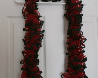 50 inch Christmas Holiday ruffle scarf  #37