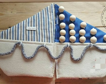 """quiet book """"boat""""with 10 pages, soft book, educationaly quiet book,toddler  activity felt book in handmade;"""