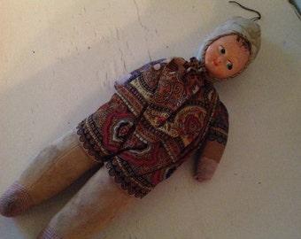 Vintage handmade doll cloth doll rag doll