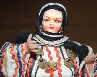 Vintage Greek 10 inch Stockinette Doll