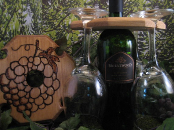 Wine Bottle Wine Glass Rack