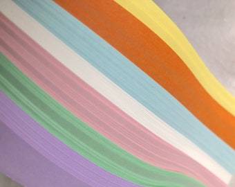 Clearance* Pastels~ Moravian German Froebel Star Paper (100 strips)