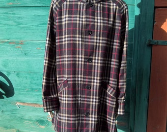 Vintage Country Plaid Reversible Coat