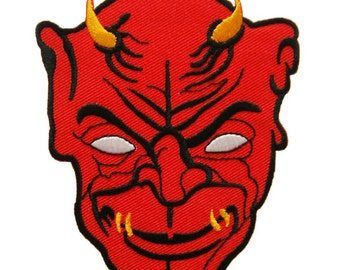Red Devil Evil Embroidered Applique Iron on Patch