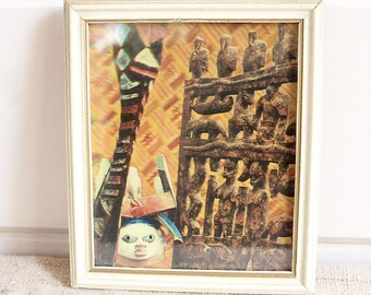 CLEARANCE Vintage Wall Hanging, Illusion Print